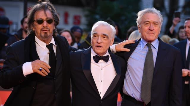 Al Pacino,  Martin Scorsese et Robert De Niro à Londres en octobre 2019