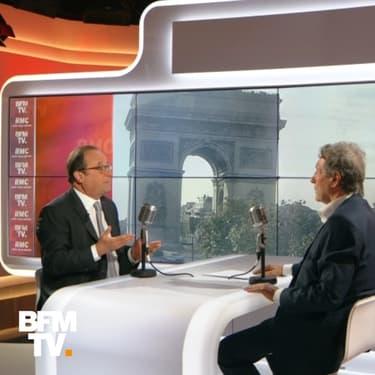 """François Hollande """"regrette"""" de ne pas s'être présenté à la présidentielle de 2017, mais ne sait """"pas encore"""" s'il briguera un nouveau mandat"""