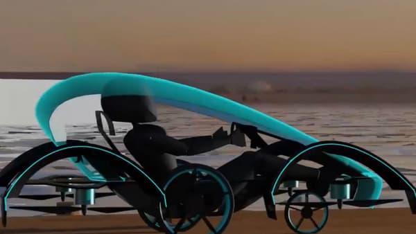 Si, dans les airs, le Skydrive rappelle un vaisseau de la guerre des étoils, sur la route, il se positionne entre le tricycle et le char à voile. Mais avec une vitesse de pointe de 150km/h, on est plus proche du kart.