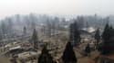 Survol de la ville de Paradise, détruite en quasi-totalité