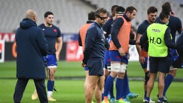 Fabien Galthié lors d'un entraînement du XV de France