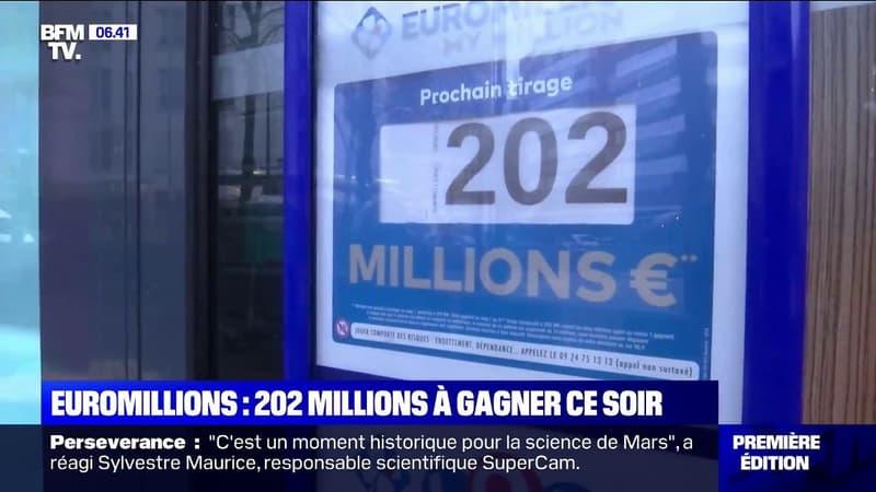Euromillions: un jackpot historique de 202 millions d'euros est à gagner ce vendredi