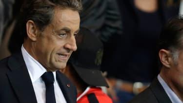 Nicolas Sarkozy au Parc des princes dimanche 21 septembre