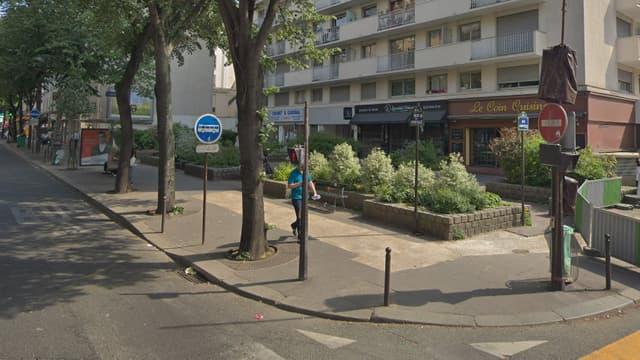 Les faits se sont déroulés à l'angles des rues  Labrouste et Vouillé