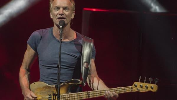 Le chanteur Sting en mai 2017 à Mexico