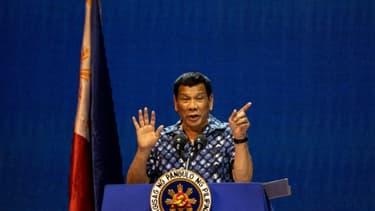 Le président philippin Rodrigo Duterte, le 11 mai 2019 à Manille