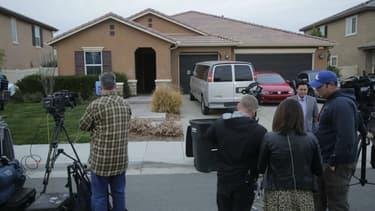 La maison de l'horreur, à Perris, en Californie, où 13 enfants ont été séquestrés par leurs parents, le 15 janvier 2018