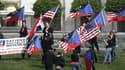 Manifestation néo-nazie du Mouvement national-socialiste américain (NSM) devant le Capitole, à Washington, le 19 avril 2008.