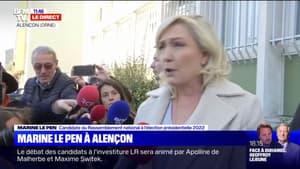 """Marine Le Pen à Alençon: """"Cet ensauvagement est en train de toucher l'ensemble de la ruralité"""""""