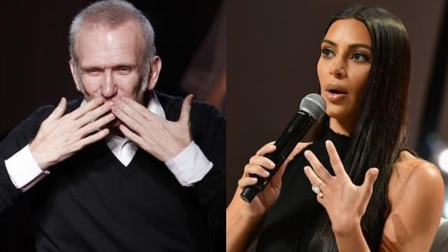 Jean Paul Gaultier et Kim Kardashian