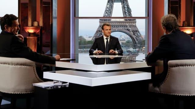 Emmanuel Macron interviewé par Mediapart et BFMTV le 16 avril 2018.