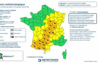 21 départements ont été placés en alerte orange en raison de risques d'orages violents