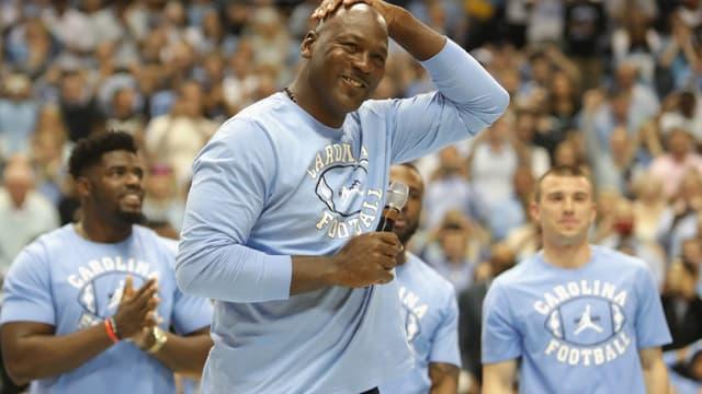 Michael Jordan de retour à UNC sur le terrain de ses premiers exploits