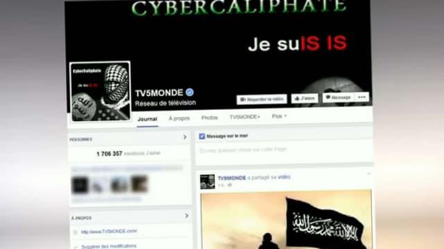 Le hack du compte twitter de TV5Monde, mercredi.