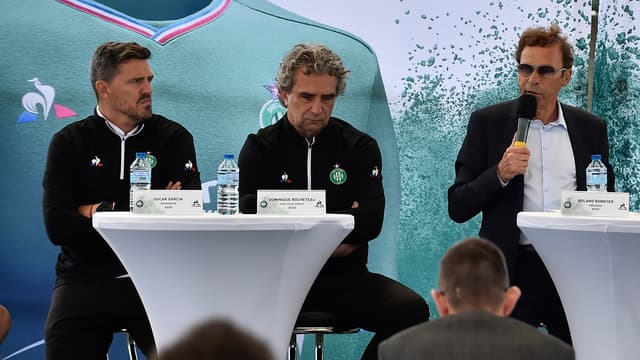 Oscar Garcia, Dominique Rocheteau et Roland Romeyer
