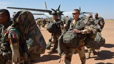 Troupes françaises venues en renfort pour l'opération Serval