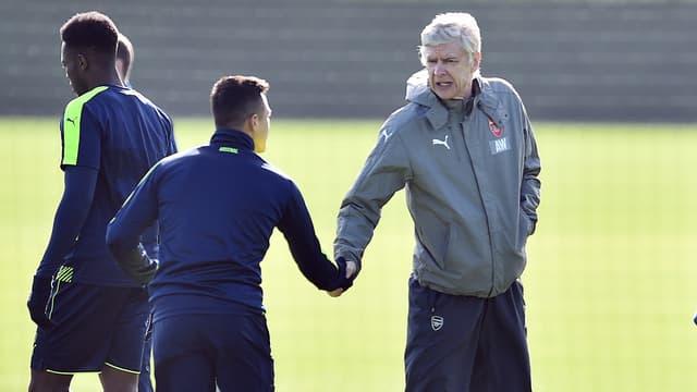 Arsène Wenger et Alexis Sanchez ce lundi