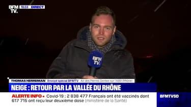 Rhône: sur l'A89, la circulation est difficile à cause de la neige