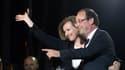 Valérie Trierweiler le 6 mai au soir, aux côtés de François Hollande.