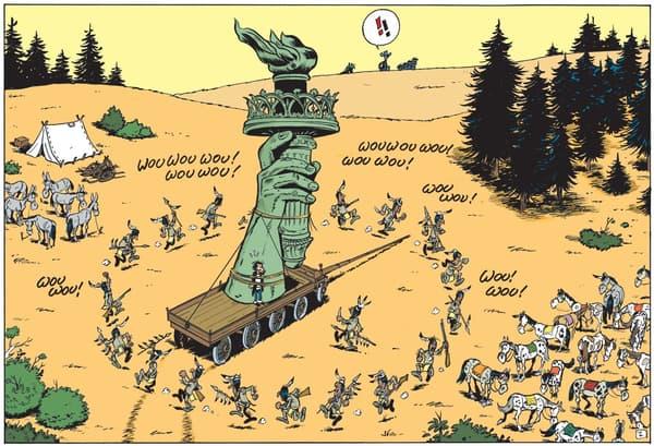 Un bout de la Statue de la liberté