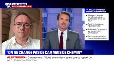 """Abad sur l'interview de Macron: """"Il n'y a quasiment rien eu sur la question de l'autorité de l'État"""""""