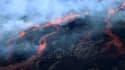 Vue aérienne du Piton de la Fournaise en éruption, le 13 juillet 2018. (Photo d'illustration)