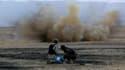 Des combattants peshmerga font sauter une mine posée par l'Etat islamique, le 18 octobre 2014. (Illustration)