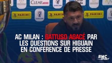 AC Milan : Gattuso agacé par les questions sur Higuain en conférence de presse