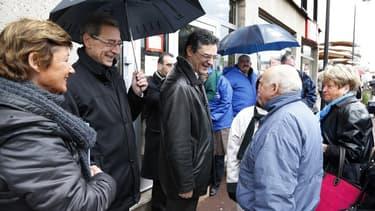 Georges Siffredi est ici à gauche de Patrick Devedjian, son prédécesseur. mort en mars dernier.