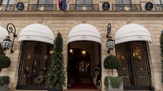 L'entrée du Ritz, à Paris.