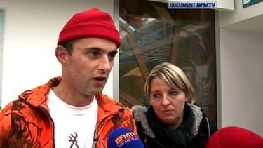 Mickael Cueff, blessé samedi dernier en Bretagne.