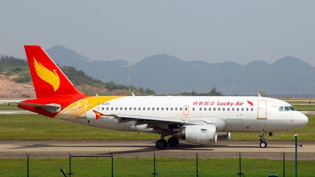 Un avion de la compagnie chinoise Lucky Air. (Photo d'illustration)