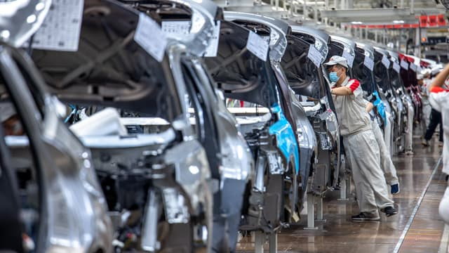 Des ouvriers de l'usine Wey assemblent des véhicules sur la ligne HAVAL lors d'une visite d'usine le 18 mai 2021 Dan Sandoval / Great Wall Motor Co. Ltd.