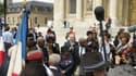 """L'inauguration de la plaque commémorative pour les """"Dissidents"""" antillais, lundi 2 juin 2014."""
