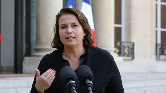 Claire Hédon à l'Elysée en octobre 2017.