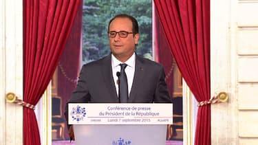 François Hollande lors de sa conférence de presse du 7 septembre 2015