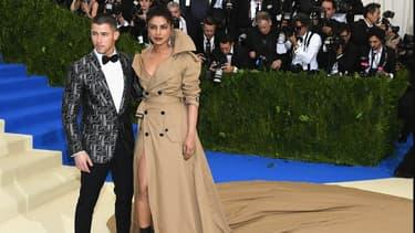 Priyanka Chopra et Nick Jonas au Met Gala en mai 2017