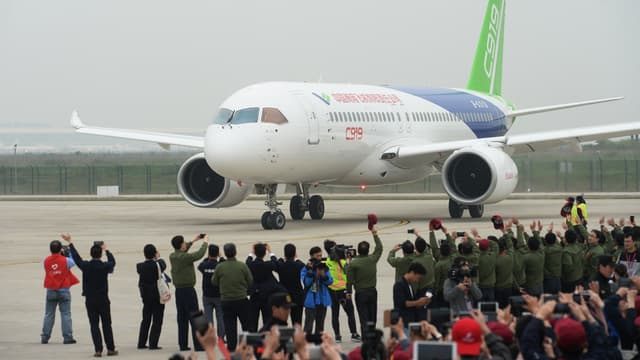 Les premières livraisons de l'avion chinois C919 sont attendues en 2021.