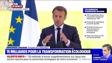 """Emmanuel Macron: """"La priorité est d'avoir une taxe carbone européenne"""""""