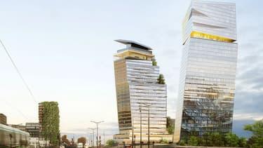 Les tours Duo sont en cours de construction dans le 13e arrondissement.