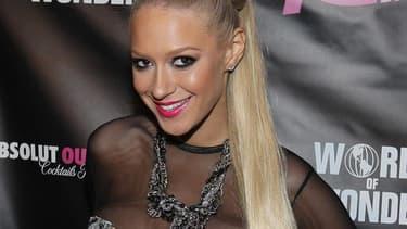 L'ex-Pussycat Dolls Kaya Jones, en 2012 à Hollywood.
