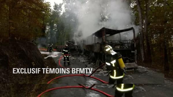 Photo exclusive d'un témoin BFMTV sur le lieu de l'accident.