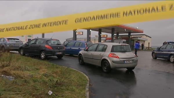 La station-service braquée par Chérif et Saïd Kouachi lors de leur fuite après l'attentat contre Charlie Hebdo.