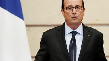 Le président François Hollande à l'Elysée, jeudi.