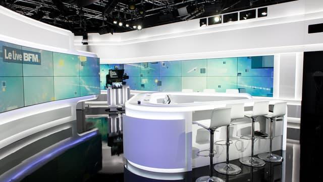 Le plateau principal de BFMTV