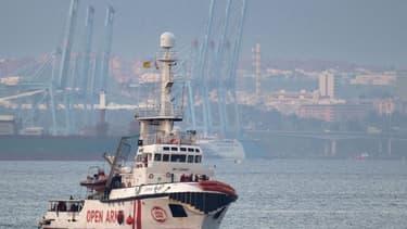 Le bateau Open Arms au large de l'Espagne en décembre 2018.
