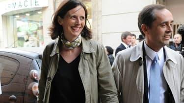 Emmanuelle Ménard et son mari.
