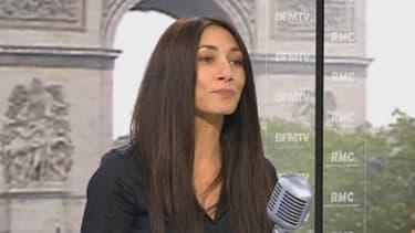 """Elina Fériel, ex-femme de caïd de Marseille, auteur de """"Au bout de la violence"""", sur le plateau de BFMTV le 20 mai 2013"""