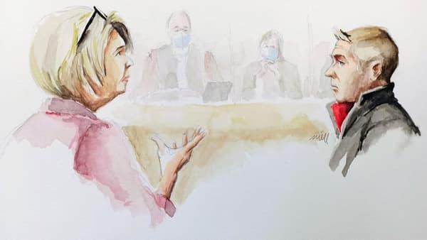 Isabelle Fouillot et Jonathann Daval lors du procès pour le meurtre d'Alexia Fouillot, en novembre 2020.