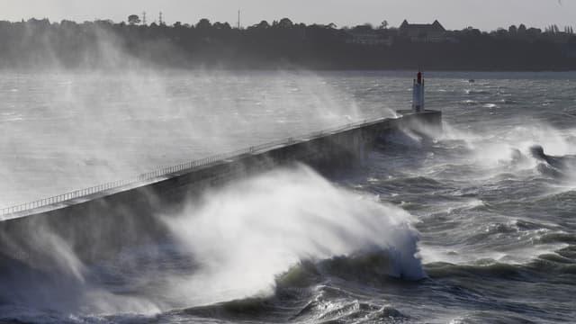 Des rafales de vent à Saint-Malo, le 27 décembre 2020 (illustration).